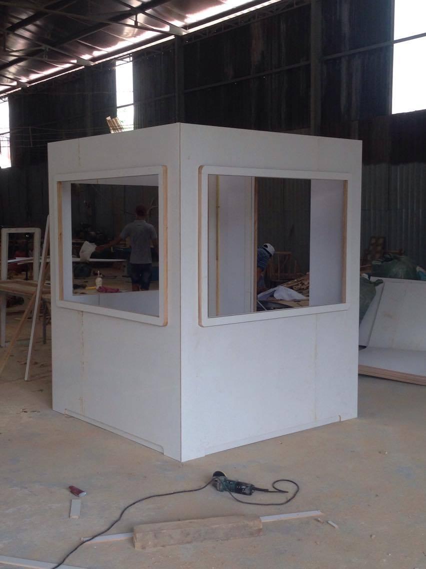 Sau thử nghiệm chòi bảo vệ mẫu, chúng tôi sẽ sản xuất hàng loạt bằng composite
