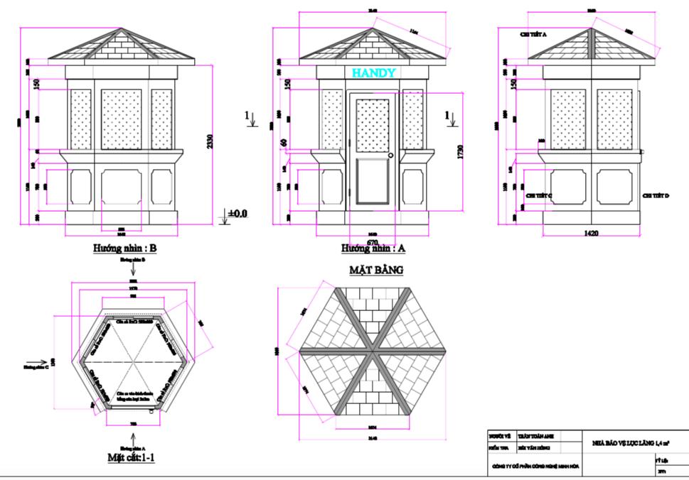 Một trong những mẫu cabin bảo vệ lục giác