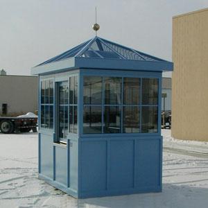 Nhà bảo vệ khung thép mái nhọn