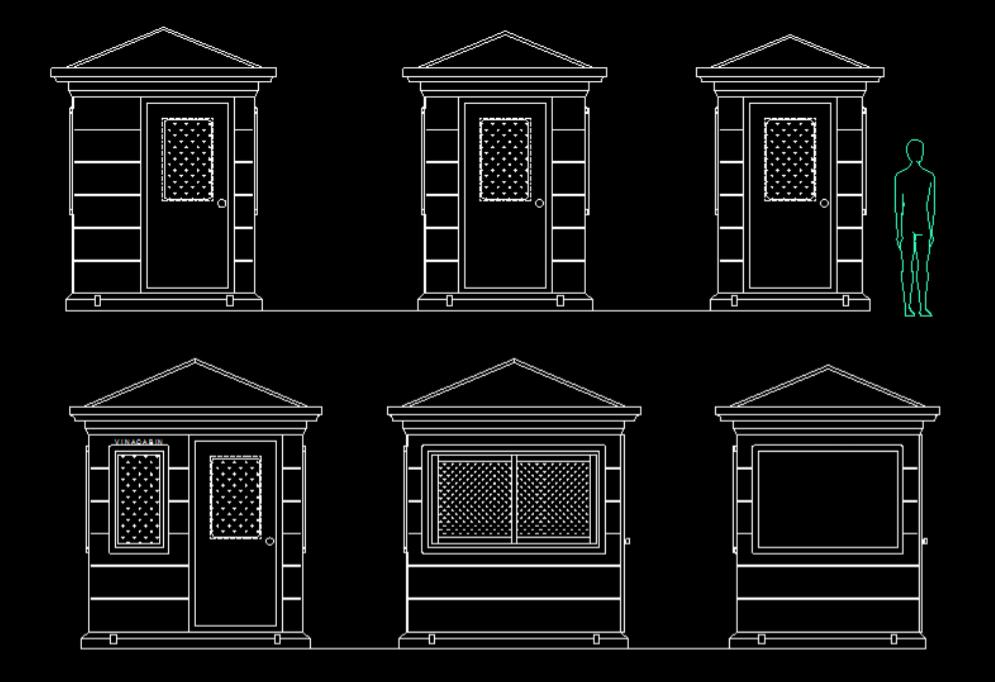 Bản vẽ nhà bảo vệ 2021