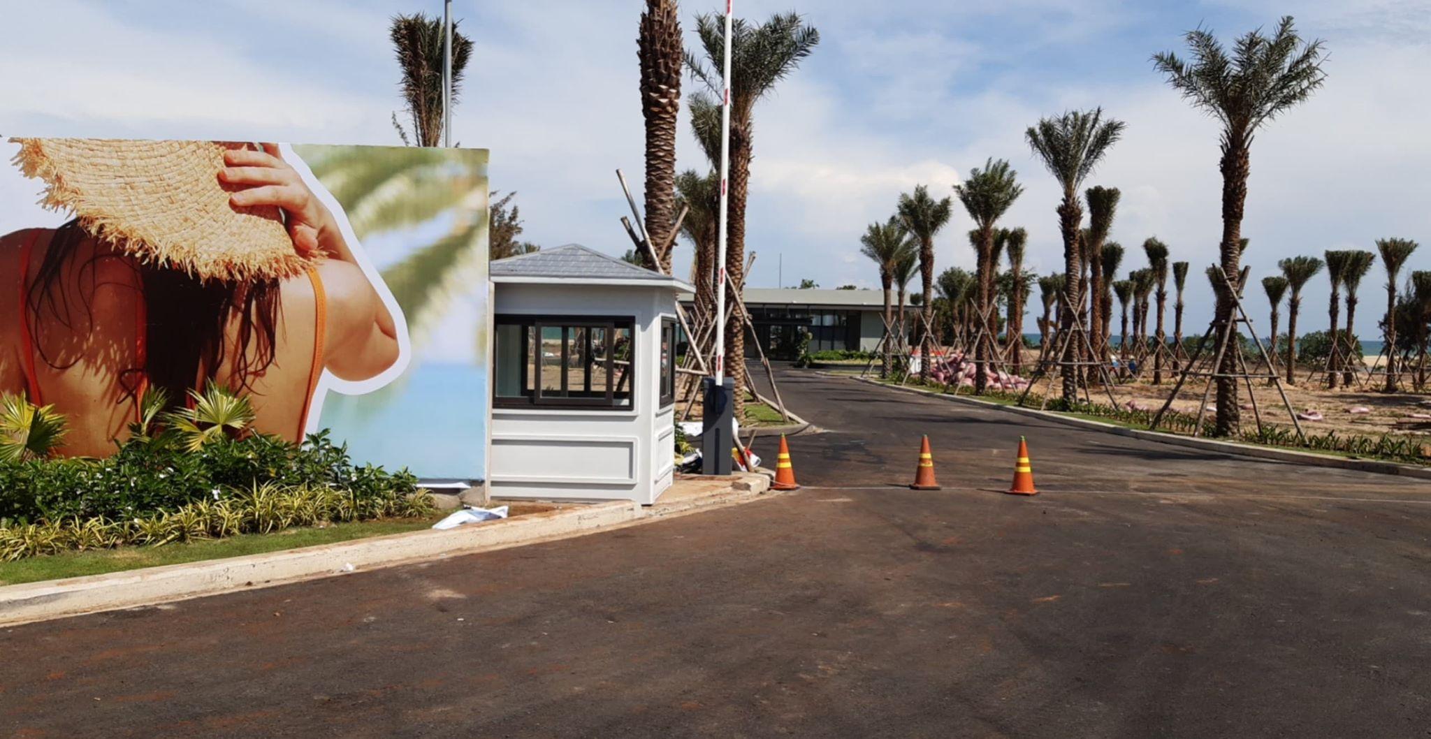 Chốt bảo vệ mái nhọn lắp đặt tại Casino Hồ Tràm